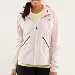 LULULEMON Rise and Shine Full Zip Hooded Side Pockets Yoga Running Light Jacket